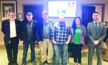 Pictured from left to right: Jamestown Mayor Lyndon Baines, Jamestown Public Works Director Steve McCoy, Water Plant Supervisor Chris Ramsey with TAUD Region IV judges Lonnie McCloud of the Tennessee Department of Environment and Conservation, Dina Gouge who is a Territory Manager for Southeastern Land, and Dan Sellers with Edward Jones Financial.